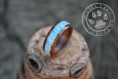 Wood Ring Wooden Wedding Ring Wooden Ring by Wellsbaredesigns
