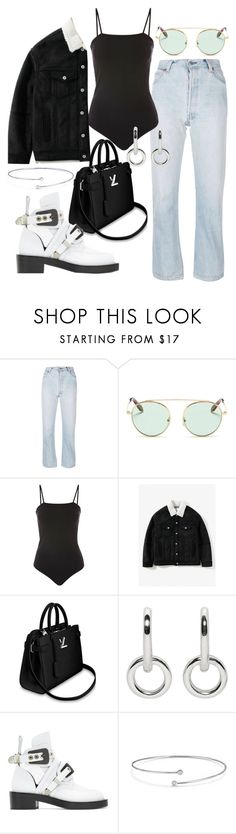 """""""Untitled #23231"""" by florencia95 ❤ liked on Polyvore featuring RE/DONE, Victoria Beckham, Topshop, Sophie Buhai, Balenciaga and Elsa Peretti"""