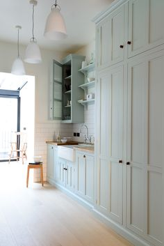 A beautiful galley style kitchen from deVOL's Classic English range