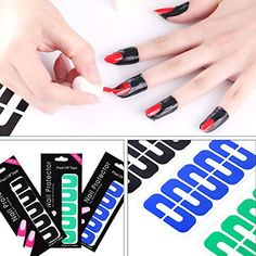 10 Pack 100 Piece Mix-Color Easy Fast Clean Disposable Peel Off Tapes Cuticle Guard Skin Barrier Anti Oil Overflow U Type Nail Stickers Glue Nail Art Polish UV Gel Palisade >>> More info could be found at the image url. (This is an affiliate link) #FootHandNailCare