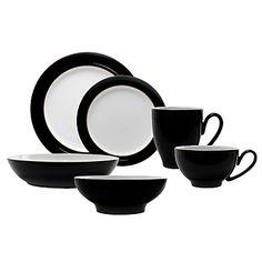 for everyday elegant dining. Elegant Dining, John Lewis, Sweet Home, Retro, Tableware, Swag, Chic, Kitchen, Black