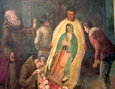 Our Lady of Guadalupe Spanish: Nuestra Señora de Guadalupe Feastday: December 12 Patron of the Americas Seer: St. Juan Diego #kabataangkatoliko  An elder Mexican man makes his way to Mass in the early morning twilight of December 9 1531. He is a peasant a simple farmer and laborer and he has no education. Born under Aztec rule he is a convert to Catholicism and each step he takes this morning is a step into history.  The morning quiet is broken by a strange music that he will later describe…