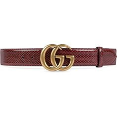 Gucci Ayers Belt With Double G Buckle ($750) ❤ liked on Polyvore featuring accessories, belts, red, red belt, gucci belt, gucci, buckle belt and snake belt
