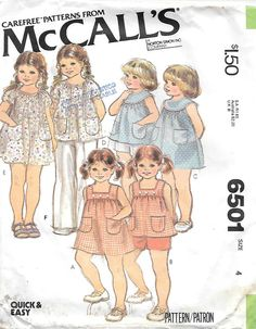McCalls 6501 1970s Girls Peasant Dress by GrandmaMadeWithLove
