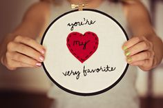you're my very favorite embroidery hoop by SentimentalSundays, $25.00
