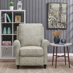 Andover Mills Leni Manual Recliner Upholstery Color: Chocolate Brown and Creamy White Floral Recliner With Ottoman, Swivel Recliner, Loveseat Slipcovers, Sofa Bed, Sectional Sofa, Sofas, Wall Hugger Recliners, Gray Dining Chairs, Accent Chairs