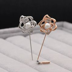 CINDY XIANG 2017 New Product Hot Selling Korean Beautiful Rose Flower Design Gold And Silver Brooch Pins For Women As Gift