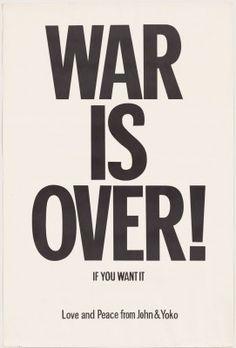 Yoko Ono, John Lennon. War Is Over! If You Want It (1972).