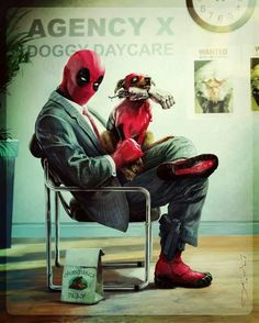 Haha, this is great XD I love Deadpool's dog so much XD -Will