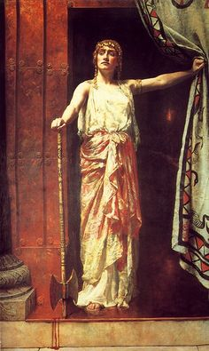 Clytemnestra after the murder of Agamemnon.