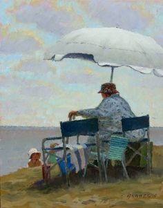 """Taking Grandma to the Beach"" by Ron Grauer"