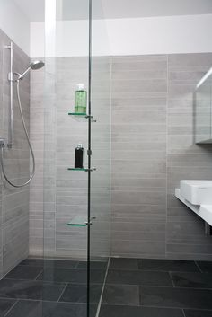 big white wall tiles big grey floor tiles bathroom pinterest grey floor tiles white wall tiles and gray floor