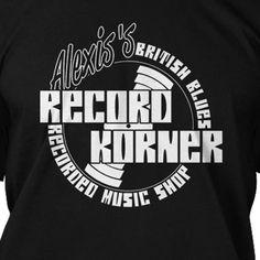 Alexis Korner inspired BRITISH BLUES T-shrit