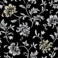 TAPET BLACK, GOLDEN FLOWER artnr 5219472A Bauhaus 399 kr
