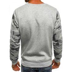 Herren Sweatshirt Grau – J.Style DD03 für 18,95€ ✓ Kostenlose Lieferung in Deutschland ✓ ohne Kapuze bei Ozonee
