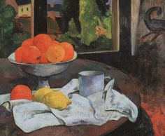 Paul Gauguin - Still life with fruit bowl and lemons