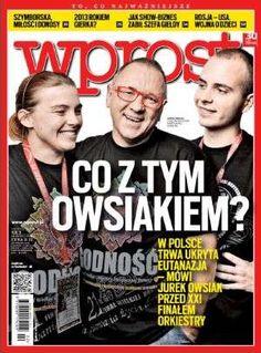 """Nowy #Wprost nr. 53 dostępny za DARMO dzięki #Znak it!, m.in.: """"Nowe szaty muzyki"""", (""""Po etapie digitalizacji i sprzedaży plików z muzyką nadchodzi czas serwisów streamingowych. Największy – #Spotify – wchodzi do Polski""""); """"Teresa #Torańska (1944-2013)"""", (""""Zawsze chciała zrozumieć. Wolała to od przyklejania etykietek. Taką miała filozofię zawodu""""); """"#Owsiak na zakręcie"""", (""""Musi odpierać oskarżenia o promowanie eutanazji""""); więcej: http://www.wprost.pl/tygodnik/?I=1559"""