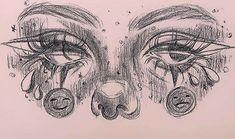 Art Drawings Sketches Simple, Pencil Art Drawings, Indie Drawings, Psychedelic Drawings, Tattoo Sketches, Cartoon Drawings, Pintura Hippie, Arte Grunge, Hippie Painting