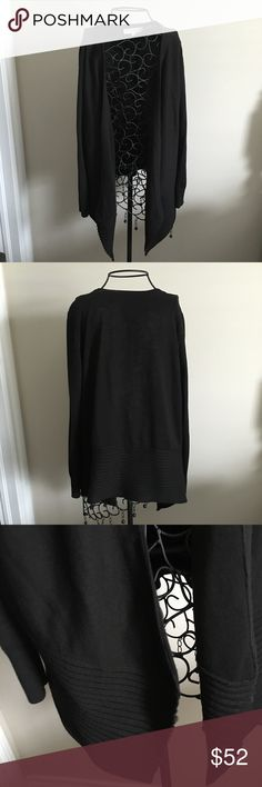 """LOFT Black Open Cardigan. NWOT Never worn. Black. On the heavier side. 60% acrylic and 40% nylon. Lying flat length of back 26"""" and length of longest part in front 30.5"""".  ❌ No trades or off Poshmark transactions.   👌🏻Quick shipping.   💁🏻Offers welcome through """"Make an Offer"""" feature.   👗👠 Bundle discount.   ❔ Feel free to ask any questions. LOFT Sweaters Cardigans"""