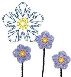 No.15 Flax Crochet Flower Motifs / 플랙스 코바늘 플라워 모티브도안