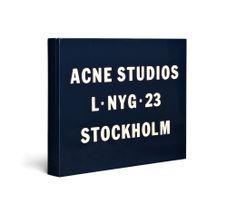 Acne | Vanessa Logo Clutch Midnight Blue