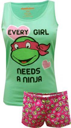Teenage Mutant Ninja Turtle Ladies Shortie Pajama