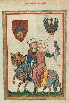 Codex Manesse, UB Heidelberg, Cod. Pal. germ. 848, fol. 69r, Herr Werner von Teufen