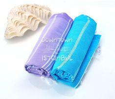 Beach Sarong Towel Set of 2 Turkish Bath Towel by DowntownIstanbul, $29.99