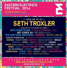 The first acts for Eastern Electrics Festival 2016 have been announced!