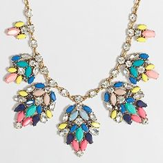 Factory stone leaf clusters necklace