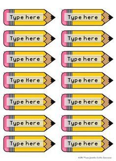 pencil name tags free is part of Classroom - Pencil Name Tags FREE artIdeas Pencil Classroom Labels, Classroom Organisation, New Classroom, Classroom Setup, School Organization, Kindergarten Classroom, Classroom Management, Classroom Name Tags, Kindergarten Name Tags