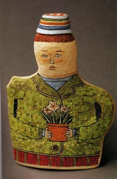 Cynthia Toops micro mosaic sculpture handmade from polymer