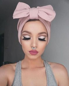 Makeup Looks to Try - Afghan Fan Gold or Silver Septum Piercing Jewelry at MyBodiArt.com