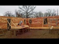 Log Walls Going Up!  LittleCedarLogHomes.com