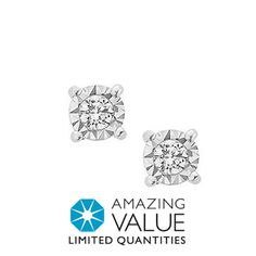 Fred Meyer Jewelers | 1/12 ct. tw. Diamond Solitaire Earrings