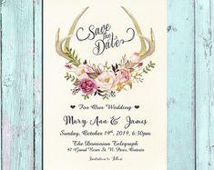 Invitation kit Wedding Invitation Pink by HappyLifePrintables