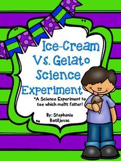 Ice Cream Vs Gelato Science Experiment By Second Grade Sweets Teachers