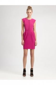 Crepe Dress Magenta Color: Magenta Price: $315.00