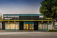 Nighttime view outside PKF SMART Business Hub - NZ