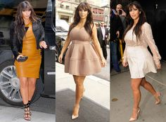 Kim shows off the baby bump in three  different outfits in just one day!