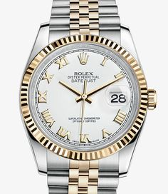 Rolex Datejust Watch: Yellow Rolesor - combination of 904L steel and 18 ct yellow gold – M116233-0149