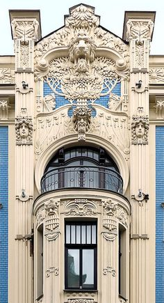 Beautiful architectural details ~ #Riga - #Latvia #Jugendstil
