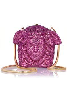 b45c933f5d VERSACE Medusa crystal-embellished shoulder bag Versace Handbags