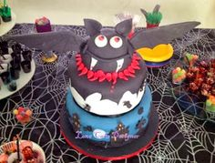Bolo Drácula - bat cake