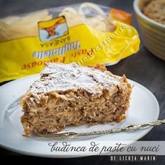 Din bucătăria mea: Budinca de paste cu nuci Pasta With Walnuts, Pasta Recipies, Eastern European Recipes, How To Cook Pasta, Meatloaf, Paste, Banana Bread, Pudding, Sweets