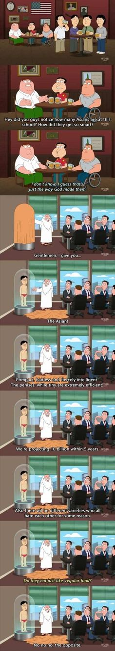 funny asians family guy - Dump A Day Best Funny Pictures, Funny Photos, Food Pictures, Funny Images, Funny Facts, Funny Jokes, Funny Food, Family Guy Quotes, Funny Family