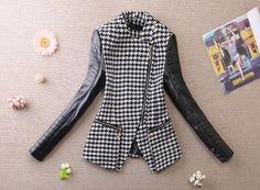 houndstooth leather jacket - Hľadať Googlom