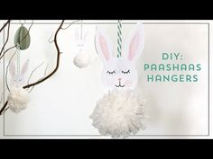 DIY: Easter bunny to decorate the Easter tree Easter Tree, Easter Bunny, Bunnies, Diys, Hangers, Party, Bricolage, Rabbits, Hanger Hooks