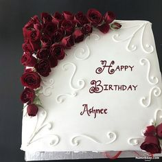 Check this out how people are wishing a happy birthday these days. Happy Birthday Cake Writing, Birthday Cake Write Name, Birthday Wishes With Name, Happy Birthday Cake Pictures, Friends Birthday Cake, Happy Birthday Wishes Cake, Birthday Cake With Photo, Happy Birthday Celebration, Happy Birthday My Love