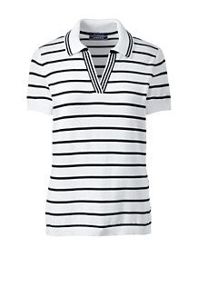 Try our Women's Supima Cotton Contrast Sweater Polo Shirt at Lands' End. Polo Shirt Women, Pullover, Ladies Golf, Contrast, Womens Fashion, Sweaters, Cotton, Mens Tops, T Shirt
